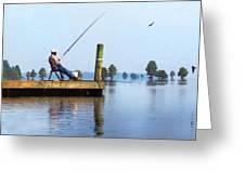 Sunday Fisherman Greeting Card