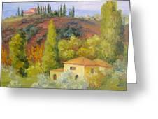 Sunday In Tuscany Greeting Card
