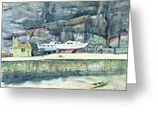 Sunday Morning Dysart Harbour Greeting Card