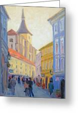 Sunday Stroll - Prague Greeting Card