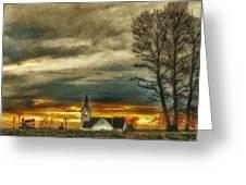 Sunday Sunset Greeting Card