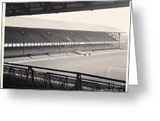 Sunderland - Roker Park - Main Stand 1 - Bw - Leitch - 1960s Greeting Card