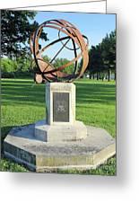 Sundial At American Legion Post, Indianapolis, Indiana Greeting Card