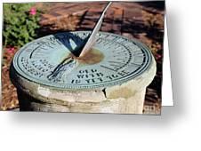 Sundial At Benjamin Harrison Home, Indianapolis, Indiana Greeting Card