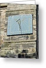 Sundial On St Mary's Church - Tutbury Greeting Card