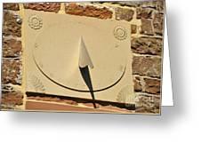 Sundial.  Greeting Card