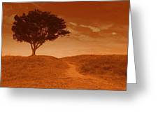 Sundown Alone Greeting Card