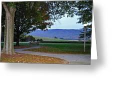 Sundown At Blue Ridge Greeting Card
