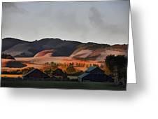 Sundown At The Ranch Greeting Card