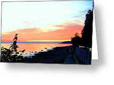 Sundown From West Vancouver Greeting Card