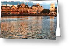 Sundown On The Boardwalk Walt Disney World Greeting Card