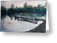 Sundown On The Broken Dock Greeting Card