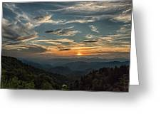 Sundown On The Parkway Greeting Card