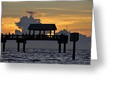 Sundown Pier Greeting Card