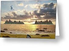 Sundown Seascape Greeting Card