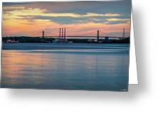 Sunset On The A Murray Mackay Greeting Card