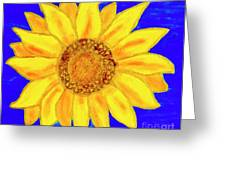 Sunflower, Acrylic Painting Greeting Card