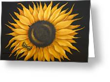 Sunflower And Butterfly Greeting Card