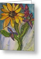 Sunflower And Friends Greeting Card