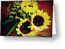 Sunflower Decor 3 Greeting Card