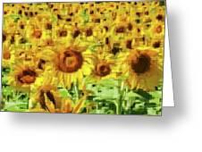 Sunflower Edges Greeting Card