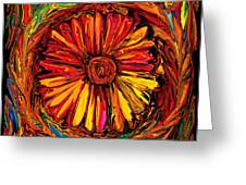 Sunflower Emblem Greeting Card