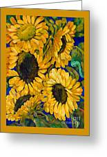 Sunflower Faces Greeting Card