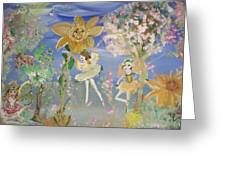 Sunflower Fairies Greeting Card