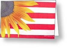 Sunflower Flag Greeting Card