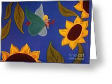 Sunflower Flight Greeting Card