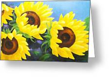 Sunflower Foursome Greeting Card