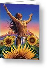 Sunflower - Glorious Success Greeting Card by Anne Wertheim
