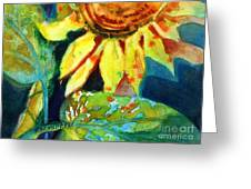 Sunflower Head 4 Greeting Card by Kathy Braud