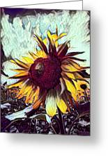 Sunflower In Deep Tones Greeting Card