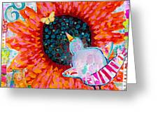 Sunflower In The Middle Greeting Card