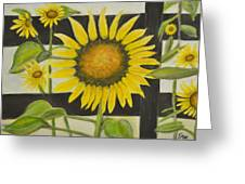 Sunflower In Your Face Greeting Card