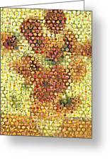 Sunflower Mosaic Greeting Card
