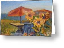 Sunflower Picnic Greeting Card