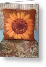 Sunflower Pillow Greeting Card
