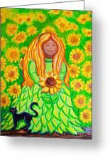Sunflower Princess Greeting Card