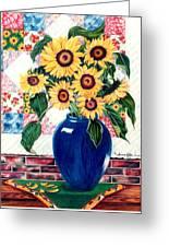 Sunflower Quilt Greeting Card