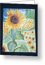 Sunflower Sea Greeting Card