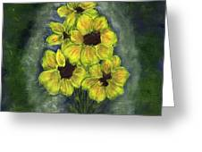 Sunflower Season - Www.jennifer-d-art.com Greeting Card