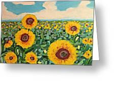 Sunflower Serendipity Greeting Card