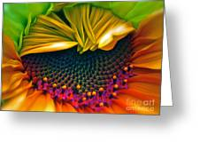 Sunflower Smoothie Greeting Card by Gwyn Newcombe