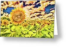 Sunflower Storm Greeting Card