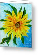 Sunflower Sunshine Of Your Love Greeting Card