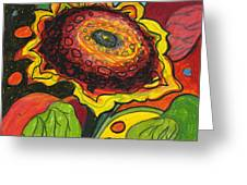Sunflower Surprise Greeting Card by Jennifer Lommers