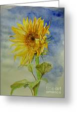 Sunflower Tribute To Van Gogh Greeting Card