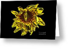 Sunflower With Stone Effect Greeting Card